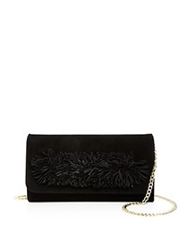 Ollie And B Fringe Suede Clutch Black Gold
