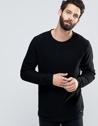 Only And Sons Textured Knitted Jumper Black