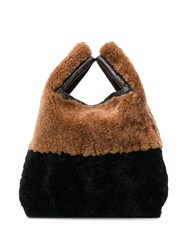 Simonetta Ravizza Slouchy Mini Bag Brown