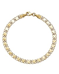Moon And Meadow Mirrored Heart Link Bracelet In 14K Yellow Gold 100 Exclusive