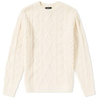 A.P.C. Jacques Yves Cable Crew Knit White