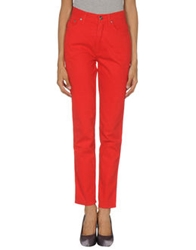 Krizia Jeans Casual Pants Red