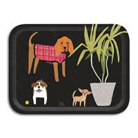 Avenida Home Annie Bentley Dogs Tray Black