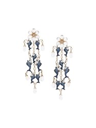 Lydia Courteille Fish Detail Drop Earrings Multicolour