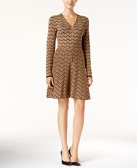 Inc International Concepts Petite Chevron Sweater Dress Only At Macy's Heather Ginger