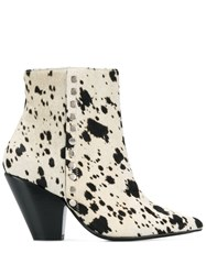 Toga Pulla Patterned Ankle Boots White
