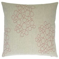 K Studio Pebbles Embroidered Pillow Red White