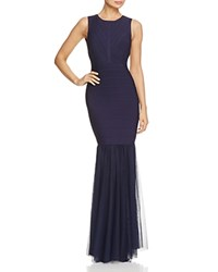 Js Collections Bandage Cutout Back Gown Navy