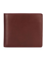 A.P.C. Classic Bi Fold Wallet Pink And Purple
