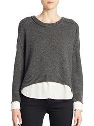 Brochu Walker Hi Low Looker Layered Pullover Ore Melange