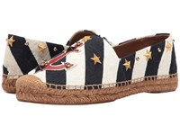 Dolce And Gabbana Brocade Espadrille With Anchor Star White Navy