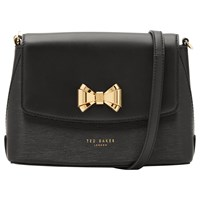 Ted Baker Tessi Bow Leather Across Body Bag Black