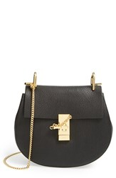 Chloe Chloe 'Drew' Leather Crossbody Bag Black Black Gold Hrdwre