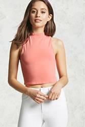 Forever 21 Faded Mock Neck Crop Top