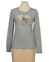 Luis Trenker Long Sleeve T Shirts Light Grey