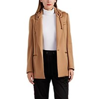 Undercover Hooded One Button Blazer Camel