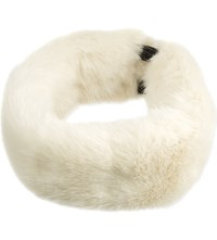 Helen Moore Faux Fur Headband White
