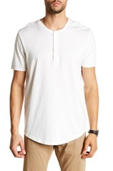 Jeff Long Beach Henley Tee White