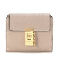 Chloe Drew Square Leather Wallet Grey