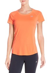 Women's New Balance 'Ice' Mesh Back Tee Dragonfly