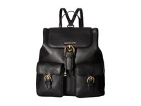 Michael Michael Kors Cooper Large Flap Backpack Black Backpack Bags