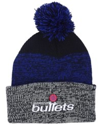 47 Brand '47 Washington Bullets Black Static Pom Knit Hat Black Royalblue Gray