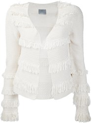 Maiyet Crocheted Fringe Jacket White