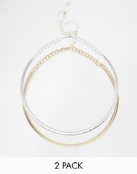 Oasis Two Pack Choker Necklace Mixedplate