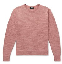 Todd Snyder Space Dyed Cotton And Cashmere Blend Sweater Pink