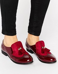 Truffle Collection High Cut Loafer Burgundy Mix Red