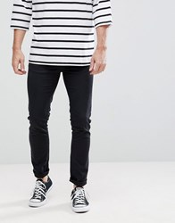 Love Moschino Skinny Fit Jeans In Black With Badge Logo