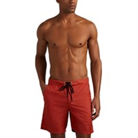 Solid And Striped Long Board Shorts Red