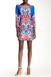 Yoana Baraschi Twiggy Flower Power Mod Mini Shift Dress Multi