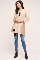 Anthropologie Denisse Wool Sweater Coat Neutral Motif