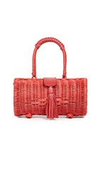 Cleobella Clarissa Wicker Bag Salsa