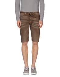 Reign Denim Denim Bermudas Men Khaki