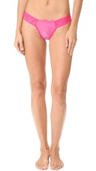 Hanky Panky After Midnight Wink Low Rise Diamond Thong Tickle Pink