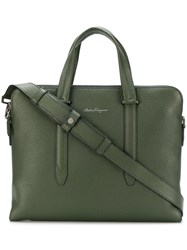 Salvatore Ferragamo Firenze Briefcase Green