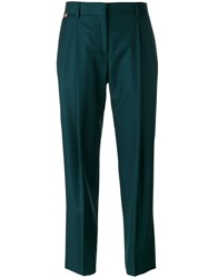Paul Smith Pleated Detail Cropped Trousers Women Wool 46 Green