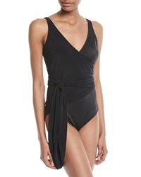 Magicsuit Misty Wrap One Piece Swimsuit Black