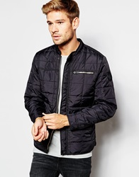 Replay Overshirt Jacket Quilted Lightweight Nylon Black