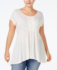 Eyeshadow Plus Size Embellished Swing Top Pristine