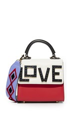 Les Petits Joueurs Alex Black Widow Micro Shoulder Bag Red White Sky Blue