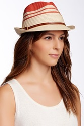 Sperry Striped Fedora Red