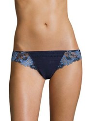 Simone Perele Wish Tanga Laced Thong Navy