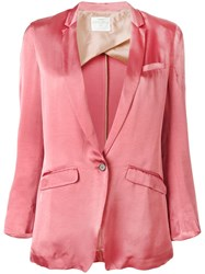 Forte Forte Three Quarters Sleeve Blazer Pink Purple