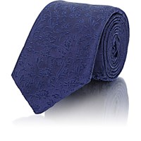 Barneys New York Men's Floral Jacquard Necktie Navy