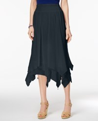 Style And Co Co. Petite Handkerchief Hem A Line Skirt Only At Macy's Industrial Blue