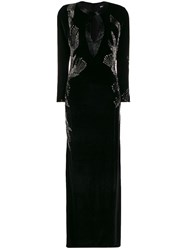 Just Cavalli Bead Embroidered Velvet Gown 60