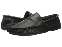 Emporio Armani Cowhide Mocassin Slippers Black Men's Slippers